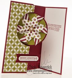 circle thinlits, season of style DSP, cherry cobbler cardstock Stampin' Up!