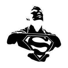 Superman vinyl decal Superman sticker Superman bust Man of Superman Stickers, Superman Art, Batman, Superman Drawing, Superman Logo, Stencil Art, Stencils, Superman Tattoos, Arte Dc Comics