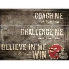 Fan Creations NFL Coach Me Plank Textual Art Plaque NFL Team: Kansas City Chiefs