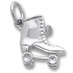 Warren Hannon Jeweler :: Roller Skate Charm | Roller Skate Charm having a width of 11.46mm and a height of 12.91mm.