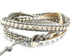 "Items I Love by Julie on Etsy - Humanity Freedom ""Lords Prayer"" bracelet"