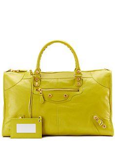 "Balenciaga ""Giant 12 Gold Work"" Leather Satchel"