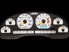 Get the White Face Gauge Look & the Reserve Glow look all in one! Available for all Mustang. Easy installation without removal of needles! Clink on the picture to get the one for your year Mustang. Ford Mustang Parts, 2004 Ford Mustang, Mustang Interior, Mustangs, Tail Light, Gauges, Glow, Cars, Vehicles