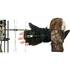 Cabela's Bowhunter Convertible Gloves By Manzella - Antique Blue (M) $24.99