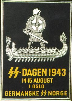 SS-Recruitment poster from Norway during German occupation 1940-45. __________________________________________________ Written on the poster translates to; ''Common front against Bolshevism''