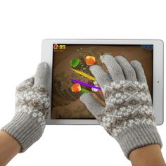 [USD2.14] [EUR2.02] [GBP1.56] Woven Decorative Pattern Five Fingers Touch Screen Gloves for iPhone 5 & 5S & 5C, iPhone 4 & 4S / iPad / iPod Touch, BlackBerry, HTC and Other Touch Screen Device(Grey)