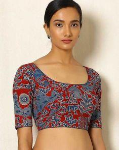 Five Best Saree Blouse Designs – Fashion Asia Kalamkari Blouse Designs, Salwar Kameez Neck Designs, Kerala Saree Blouse Designs, Saree Jacket Designs, Cotton Saree Blouse Designs, Fancy Blouse Designs, Kalamkari Blouses, Choli Designs, Indian Blouse