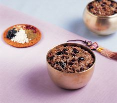 Ogok-bap (Five-grain Rice) | Ogok-bap is cooked of glutinous rice, glutinous African millet, sweet red beans and black beans together. From olden days, Koreans have regarded the first full moon day of the year as an important day. People cooked five-grain rice on that day and shared it with neighbors in hopes of peace and a good harvest.