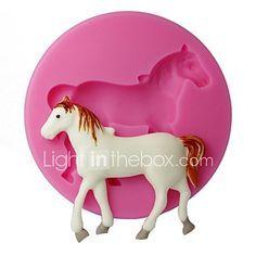 cuatro c cupcake decoración molde gofrado caballo molde de la magdalena de silicona de color rosa 2017 - $5.39