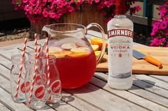 Here's a summer style tip from Closet Confections - Always match your drink to your sunglasses.    Smirnoff Pride Punch  Ingredients: 4 Cups Cranberry Juice Cocktail, 1.5 Cups Frozen Lemonade, 2 Cups Smirnoff 21, 6 Cups Lemon Lime Soda, Orange, Lemon and Lime Slices.  Combine the first 3 ingredients. Slowly add soda. Add ice. Garnish with fruit slices and serve. Makes 12 servings.
