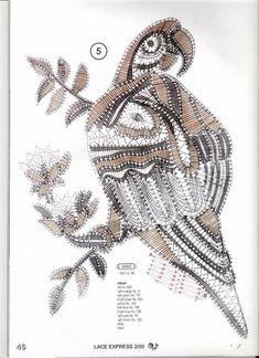 Perroquet. Lace bobbin