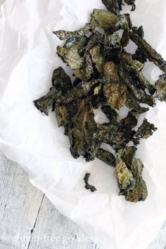 Now that cooler nights prevail- remember these? Easy, crispy baked kale chips. Ugly but good.