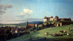 View of Pirna from the Sonnenstein Castle by artist Bernardo Bellotto. hand-painted museum quality oil painting reproduction on canvas. 2k Wallpaper, Venetian Painters, Jean Antoine Watteau, Hermitage Museum, Jean Baptiste, Oil Painting Reproductions, Italian Artist, Italian Painters, Urban Landscape
