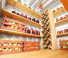 Super cold storage room ideas home 52 Ideas Pantry Storage, Storage Room, Kitchen Storage, Küchen Design, House Design, Root Cellar, Basement Apartment, Kitchen Pantry, Sweet Home