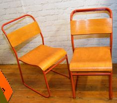 12 available red stacking vintage chairs antique dining