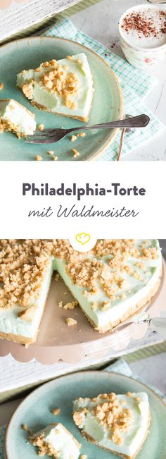 XXL-Wackelpudding oder Philadelphia-Torte mit Waldmeister But that does not even glib . British Baking, Sweet Pastries, Fall Baking, No Bake Treats, Food Cakes, Bread Baking, No Bake Cake, Cake Cookies, Baking Recipes