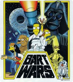 "The Simpsons ""Bart Wars"" Star Wars Star Wars Film, Star Wars Art, Video Simpson, Simpson Tv, The Simpsons, Los Simsons, Simpsons Drawings, Lego Star Wars, Graphic Design Posters"