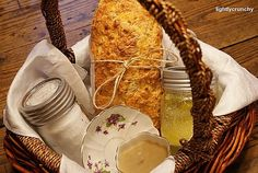 Housewarming basket -Bread so you will never be hungry, wine so you will never be thirsty, salt so life will ALWAYS have flavor, olive oil so you will always have good health and the love of good friends so u will never have to be alone. Could use ALL Tastefully Simple products - Bountiful Beer Bread, Samba Sangria, Roasted Garlic Infused olive oil, Seasoned Salt.   Love it!