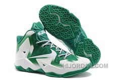 "hot sale online 7b1ea f7fc9 Nike LeBron 11 ""Michigan State"" PE White Green For Sale Authentic NPhx6E"