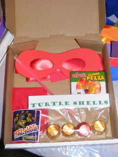 TMNT pizza favor box ideas