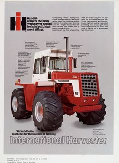 International Harvester 4166 Tractor Advertising Proof | Print | Wisconsin Historical Society