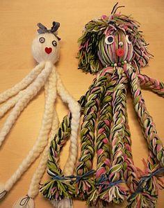 Inktvis van wol maken, goed voor de vlechttechnieken...