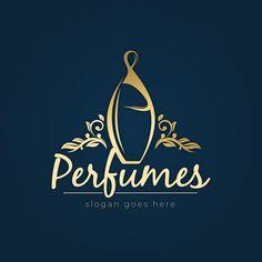 Luxury perfume logo with golden design Logo Design Template, Logo Templates, Business Templates, Perfume Logo, Perfumes Vintage, Luxury Logo Design, Logos, Golden Design, Outline Designs