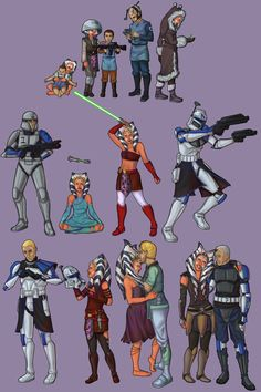 Rex and Ahsoka from Star Wars: Clone Wars. Star Wars Rebels, Star Wars Saga, Star Wars Love, Star Wars Fan Art, Star Wars Clone Wars, Star Wars Comics, Star Wars Humor, Star Wars Images, Ahsoka Tano