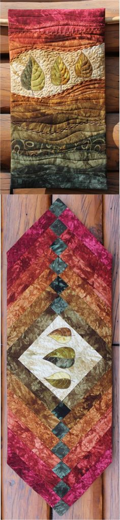 Autumn Leaves table runner and wall hanging kits now available (Diy Fall Table Runner)