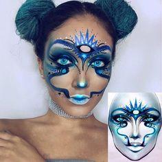 Face Paint Makeup, Fx Makeup, Makeup Inspo, Beauty Makeup, Crazy Eyeshadow, Makeup Charts, Face Awards, High Fashion Makeup, Models Makeup