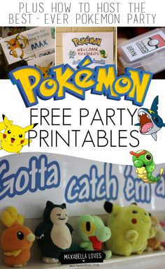 Free POKEMON PARTY PRINTABLES
