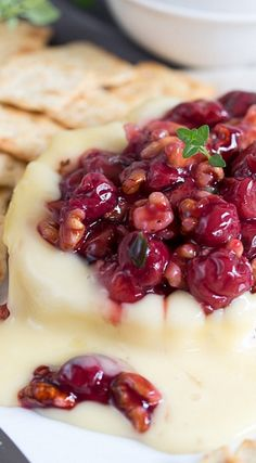 Savory Cherry Compote on Warm Brie Cheese More