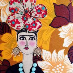 Frida Kahlo wall art hoop