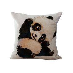 Cushion Funny Panda Nordic Cushion Cotton Linen Romantic Sofa Car Bedroom Chair Panda Home Decorative Throw Pillow Cojines