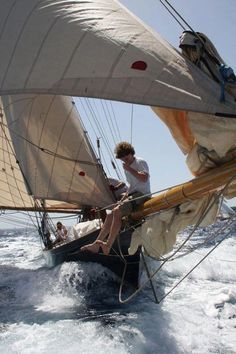 """""""Let your dreams set sail in Live your with Yacht Boutique Classic Yachts, Yacht Boat, Dinghy, Sail Away, Set Sail, Tall Ships, Water Crafts, Sailing Ships, Sailing Yachts"""