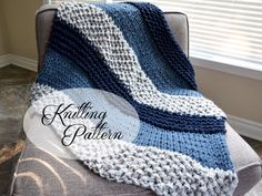 *THIS IS NOT A FINISHED PRODUCT, THIS IS A KNITTING PATTERN ONLY. ❆ BASIC PATTERN INFO > The Albatross a multi-textured throw blanket pattern that is perfect for beginners AND advanced knitters alike. The approximate finished dimensions of this pattern is 45x32 inches. > Pattern is