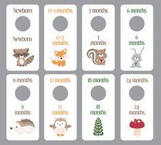 Printable Woodland Creatures Baby Boy Closet Dividers Animals Room Nursery Decor Organization Shower Gift