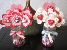 Valentine by Chan at Two Rosie Cheeks: Valentine Fun Flower Bouquets My Funny Valentine, Valentine Day Crafts, Love Valentines, Valentine Decorations, Holiday Crafts, Valentine Flowers, Pinterest Valentines, Valentine Nails, Valentine Ideas