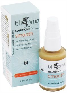 Blissoma Solutions natural skincare Smooth A+ Organic Moisture Serum for acne, eczema, psoriasis, rosacea, irritated skin types, 1 Oz, 30 ml by Blissoma. $21.50. 1 Oz Package. 100% Vegan, Certified Vegan by Vegan Action. 100% Natural. No nut ingredients. Oil Free serum formula. Smooth moisture serum performs at the top of the class with non-drying, anti-inflammatory herbs to perfect troubled skin.  Over 13 exquisite herbs offer a formula packed with toning and refinin...