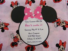 Whimsical Creations by Ann: Minnie Mouse Party Ideas Invitations Napkins