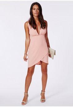Vinea Plunge Neck Wrap Mini Dress - Dresses - Missguided