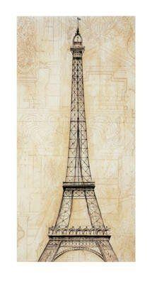 Eiffel Tower Art Print Art Poster Print by John Douglas, 7x13 by Poster Discount, http://www.amazon.com/dp/B003J1MYVK/ref=cm_sw_r_pi_dp_jUoDqb0BJDJBY