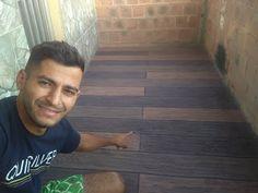 Efeito madeira com argamassa - efeito madeira no piso - efeito madeira na calçada - passo a passo - YouTube