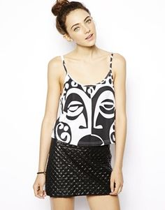 HOT. ART. FASHION...ASOS Cami Top With Tribal Face