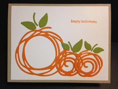 Swirly Scribbles and Teeny Tiny Wishes Halloween Card My Creative Corner!: A Swirly Scribbles and Teeny Tiny Wishes Halloween CardMy Creative Corner!: A Swirly Scribbles and Teeny Tiny Wishes Halloween Card Tarjetas Stampin Up, Stampin Up Karten, Fall Cards, Holiday Cards, Thanksgiving Greeting Cards, Su Swirly Scribbles, Pumpkin Cards, Paper Pumpkin, Stamping Up Cards
