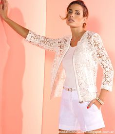 White Lace Blazer to Add to Your Clothes More Charming and Lace Blazer, Lace Jacket, Jacket Style, Kinds Of Clothes, Clothes For Women, Cool Outfits, Casual Outfits, Blouse Designs, White Lace