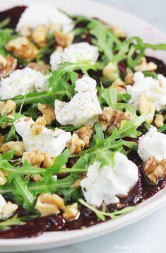 Carpaccio z buraków. Beets, Green Beans, Potato Salad, Potatoes, Cheese, Vegetables, Ethnic Recipes, Impreza, Food