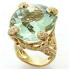 CHRISTIAN DIOR 18k Yellow Gold Rare Large Green Aquamarine Diamond Ring - Aquamarine, Christian, Diamond, Dior, Gold, Green, Large, Rare, Ring, Yellow - http://designerjewelrygalleria.com/christian-dior/christian-dior-rings/christian-dior-18k-yellow-gold-rare-large-green-aquamarine-diamond-ring-14/