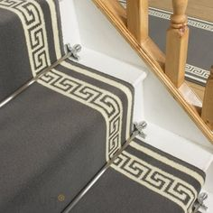 Key Grey Stair Carpet Runner - Free delivery on orders over & 30 day return guarantee from Carpet Runners UK. Grey Stair Carpet, Grey Carpet Bedroom, Beige Carpet, Diy Carpet, Black Carpet, Shag Carpet, Carpet Ideas, Bed Wrap, Black Stairs