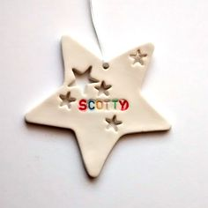 Personalised Kids Bedroom Door Sign Star Decoration.  This Custom Name sign is perfect for your childs room. Text can be any colour!  £11